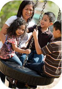 image of family at playground