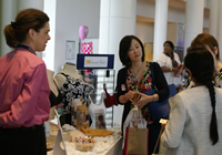 image of one of the exhibitors talking with guests