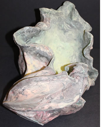 ceramic sculpture of a shell