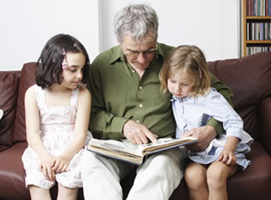 Image of a children being read to