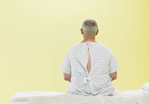 image of patient sitting in a waiting room