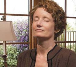 image of woman engaged in meditation