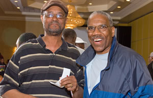 image of two friends at the Men's Fellowship Breakfast