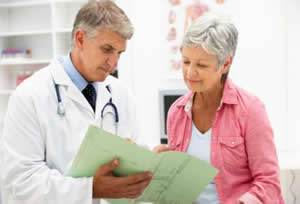 Image of doctor with patient