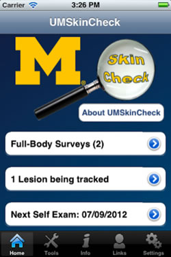 Image of the UMSkinCheck App
