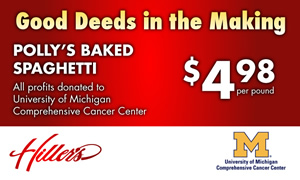 Hiller's to donate spaghetti dinner profits to U-M Cancer Center