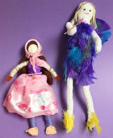 A pair of legacy dolls