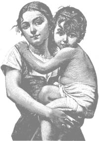 mother and child graphic