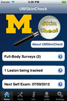 Example of U-M phone app for skin cancer