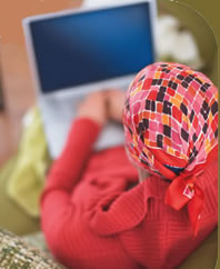 image of woman using laptop