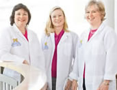 Nancy Burke, R.D., Joan Daniels, R.D., and Danielle Karsies, R.D., M.S.