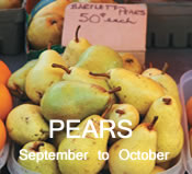 Pears: September-October